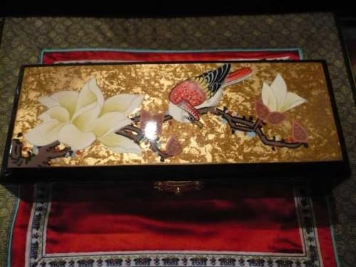 Boite bijoux en laque