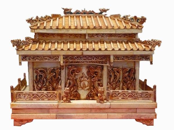 cour imperiale, palais chinois en os, avec motifs de dragon