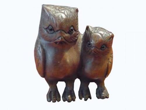 netsuke-couple-hiboux-bois