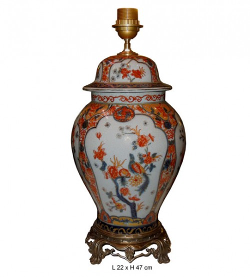 Lampe en porcelaine IMARI