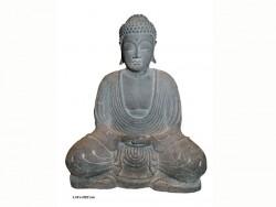 Bouddha méditation, position lotus, mains jointes