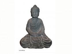 ouddha éveillé, position lotus, assis en tailleur