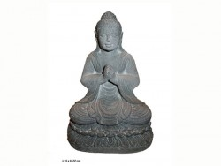 Bouddha sur socle,assis, position lotus