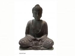 Bouddha méditation, en pierre, position lotus