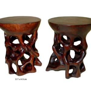 Socle, support, pied, dessous de vases , de lampes en bois