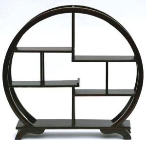 Présentoir chinois, circulaire, en bois