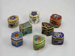 Boites chinoise à pilule en cloisonné