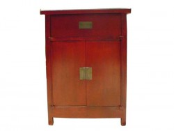 commode, buffet chinois rouge