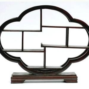 présentoir, vitrine chinoise en bois