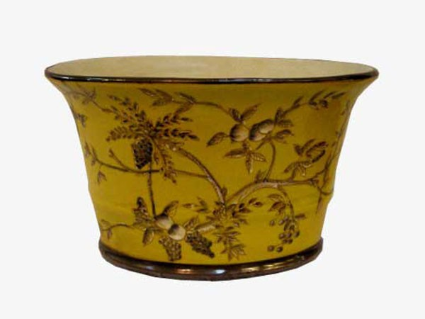 cache pot chinois jaune aux merveilles d 39 asie. Black Bedroom Furniture Sets. Home Design Ideas