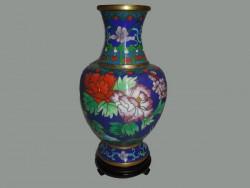 Vase en cloisonné ou en émail sur cuivre
