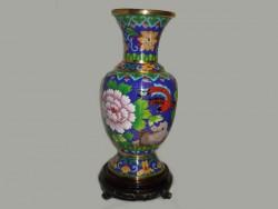 Vase , jarre en émail sur cuivre, ou cloisonné