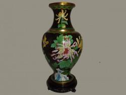 vase, jarre en cloisonné ou émail sur cuivre