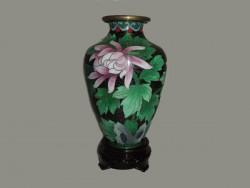 Jarre , vase en cloisonné, ou émail sur cuivre