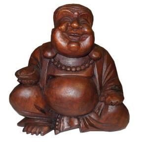 Bouddha de la joie, de la richesse, de la prospérité en bois