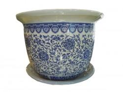 cache pot et pot chinois bleu blanc