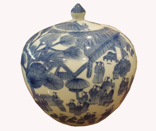 bleu blanc de chine, vases, pots, porcelaine
