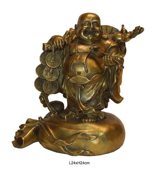 bouddha rieur en bronze aux merveilles d 39 asie. Black Bedroom Furniture Sets. Home Design Ideas
