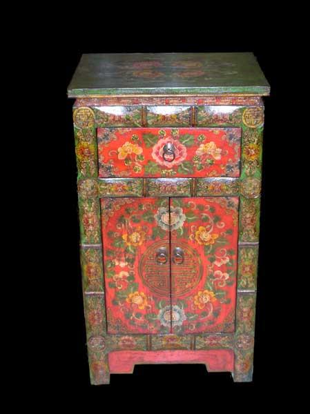 Meuble style tibet aux merveilles d 39 asie for Meuble tibetain