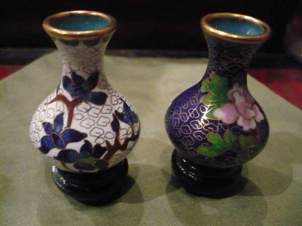 Connu Collection de vase miniature en cloisonné - Aux Merveilles d'Asie XL34