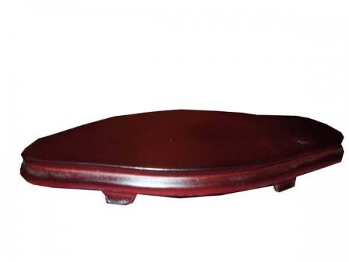 Socle  en bois, forme oval