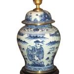 lampe bleu blanc