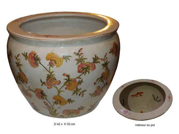 Cache pot fleurs