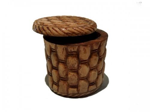 Boite en os motif bambous