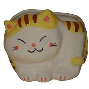 Chat maneki neko, en porcelaine du japon,porte lettre