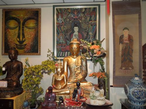 Photo boutique bouddha thailandais