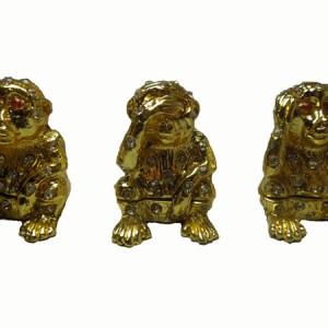 Les trois singes en étain