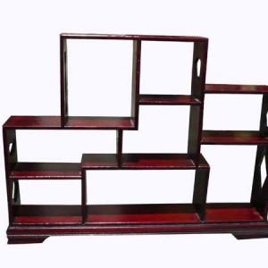 Présentoir chinois, en bois, forme rectangulaire