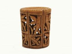 Boite en os,motif bambous
