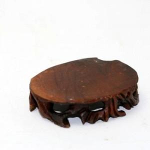 Socle, pied en bois, forme oval