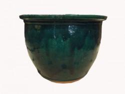 cache pot, pots, céramique, terre cuite, vert