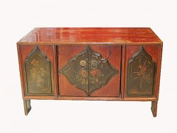 meuble, cabinet, buffet chinois ancien bas