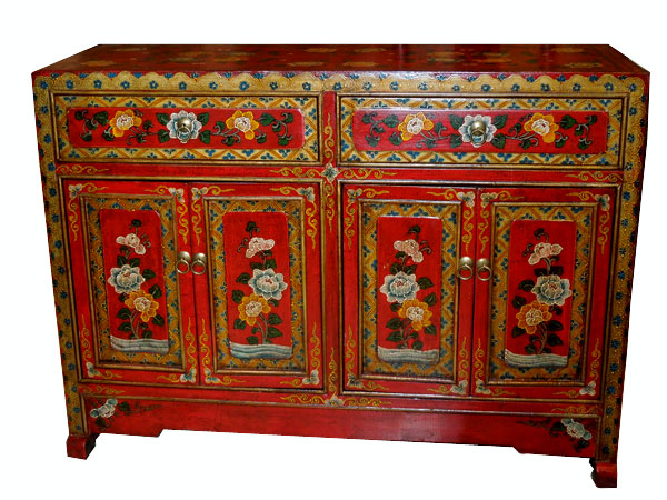 grande commode tibétain