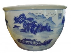 cache pot chinois paysage guillin
