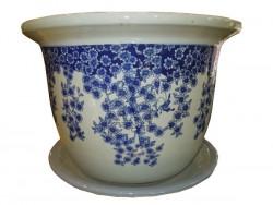 cache pot et pot bleu blanc de chine